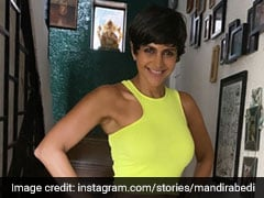 Mandira Bedi's Neon Twist To Her Casual Outfit Is Summer Perfection