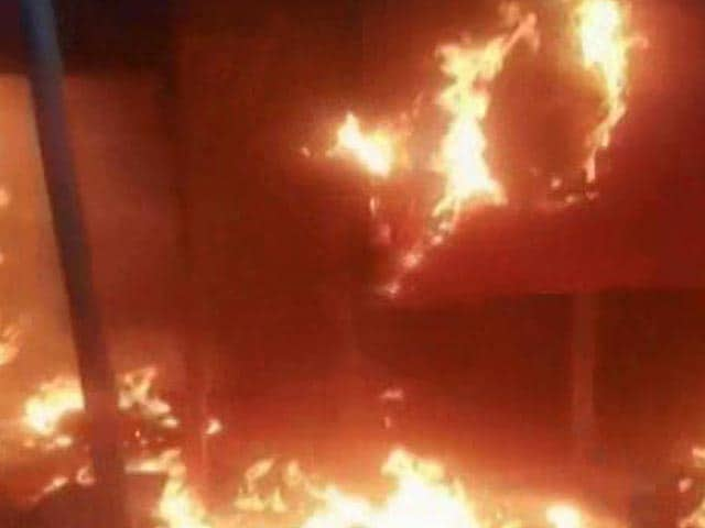 Video : BJP Office Set On Fire In Bengal, Party Blames Trinamool