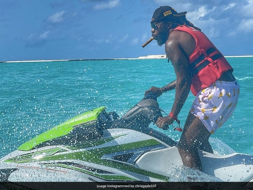 Chris Gayle Shows Off His Jet Ski Skills In The Maldives