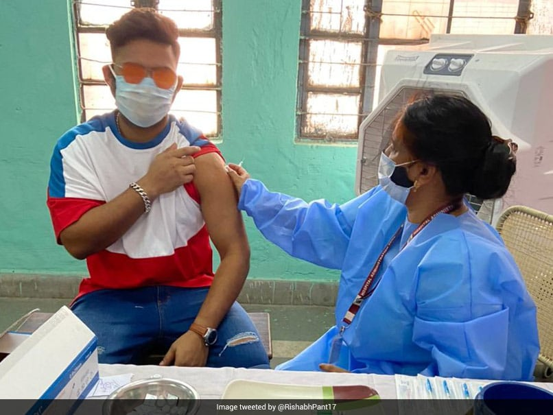 """""""Step Up And Get The Vaccine"""": Rishabh Pant Gets First COVID-19 Shot, Asks All To Follow Suit"""