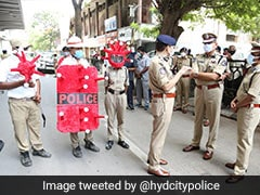 Hyderabad Police Wears Covid-Shaped Helmets To Raise Awareness