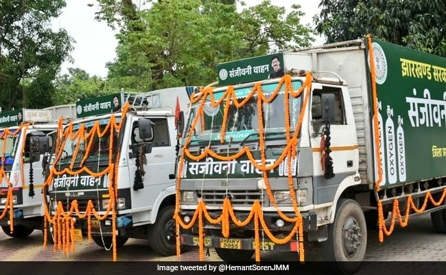 """Jharkhand Launches """"Sanjeevani Vehicles"""" To Pump Oxygen To Hospitals"""