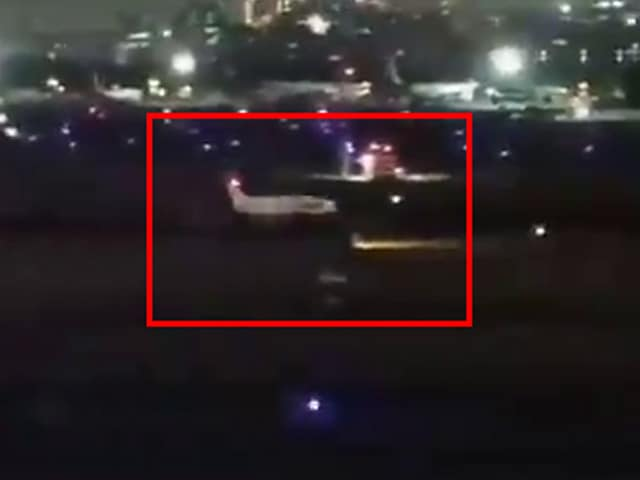 Video : Watch: The Moment When Air Ambulance Belly-Landed At Mumbai Airport