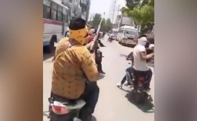 On Video, Men On Bikes Open Fire Amid Madhya Pradesh Curfew, 1 Injured