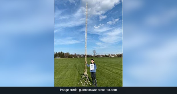 Illinois Boy Builds World's Tallest Popsicle Stick Tower, Enters Guinness World Records