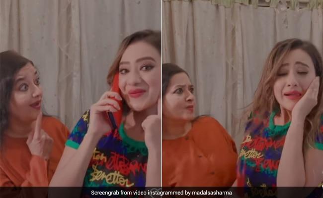Madalsa Sharma  इस गाने पर कर रही थीं डांस, तभी आ गई मम्मी और हुआ ये हाल- देखें Video