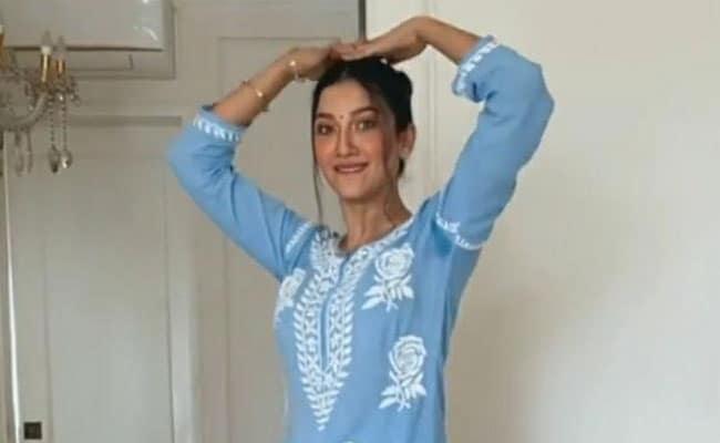Gauahar Khan did his unique dance on 'Bole Chudiyan', husband Zaid said - my desi wifey...watch video