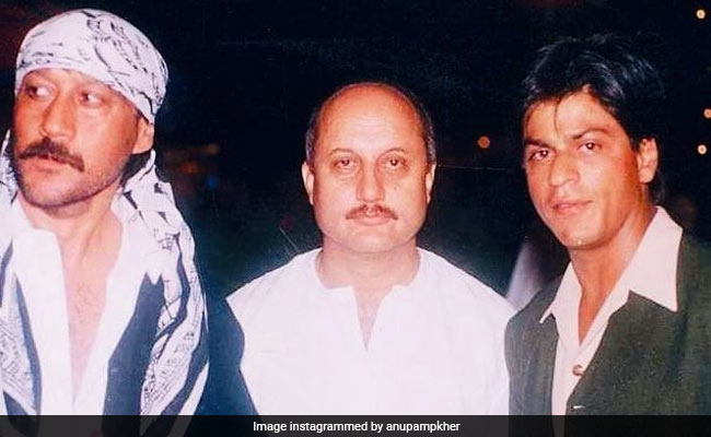Jackie Shroff Steals The Show In Throwback Pic With Shah Rukh Khan And Anupam Kher