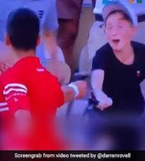 Watch: Young Fan In Disbelief As Novak Djokovic Gives Him His Racquet