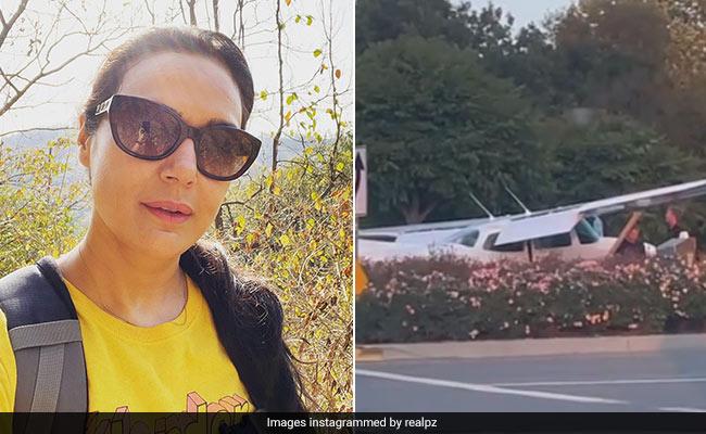 Preity Zinta Shared Video Of Landing Plane On Road Goes Viral – प्रीति जिंटा ने शेयर किया सड़क पर लैंड हुए प्लेन का Video, बोलीं