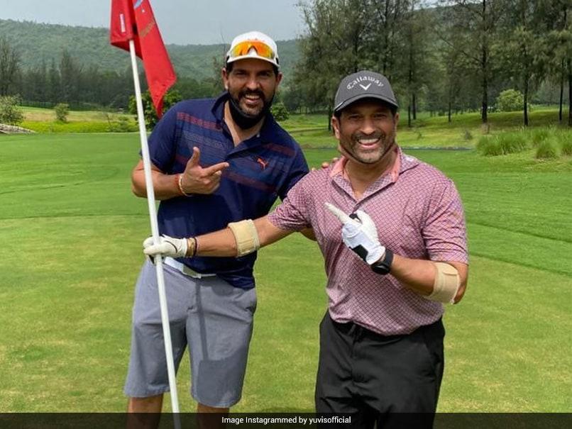 """Last Time You Woke Me Up At 4 AM Was 21 Years Ago"": Yuvraj Singh Plays Golf With Sachin Tendulkar"