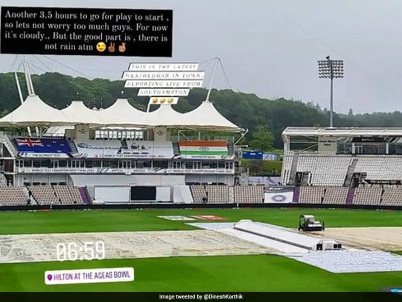 WTC Final: Dinesh Karthik Gives Weather Update From Stadium Ahead Of Day 3