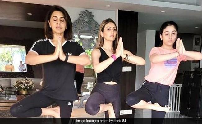The 3-Generation Yoga Day Celebration With Neetu, Riddhima And Samara Kapoor