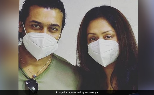 Suriya And Wife Jyothika Get First Dose Of COVID-19 Vaccine