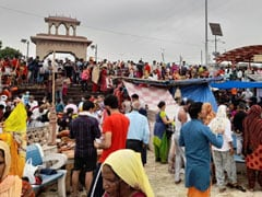Flouting Covid Norms, People Gather In UP's Hapur For Holy Dip In Ganga