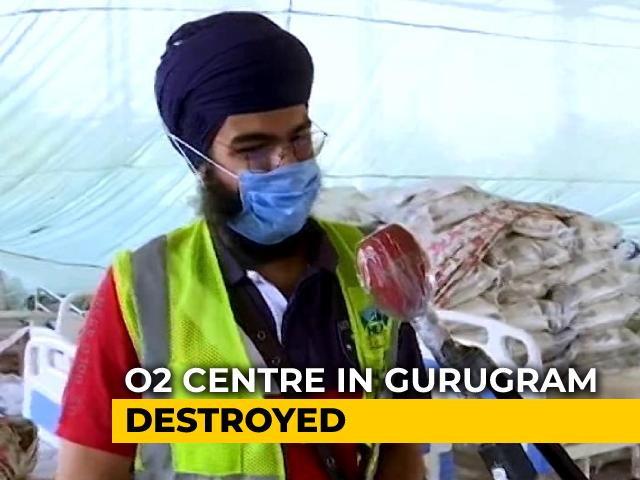 Video : Gurgaon Non-Profit's Oxygen Centre Vandalised By Goons, Says Director