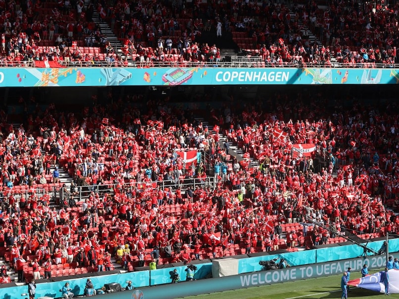 """Finnish fans shout """"Christian"""",Danes respond with """"Eriksen"""" Amazing moment Watch video"""