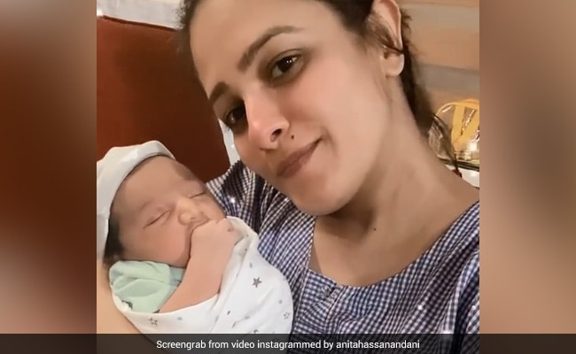 Anita Hassanandani With Her '3-Day-Old' Son Aaravv In A Throwback Video. See What She Wrote