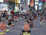 Video : International Yoga Day Celebrated At Times Square In New York