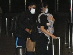 Viral Pics Of Anushka Sharma And Virat Kohli At The Airport With Baby Vamika
