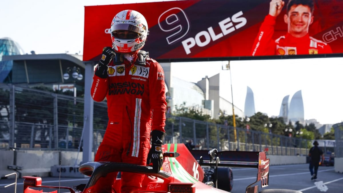 Azerbaijani GP: Charles Leclerc qualifies for the red flag of Ferrari from pole position in Baku |  Formula 1 News