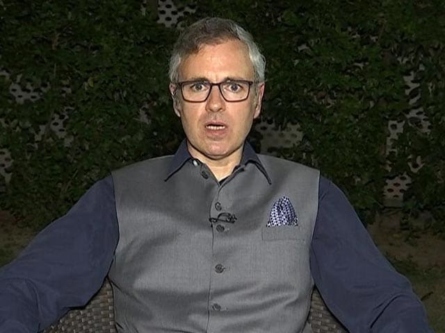 """Video : """"Not Looking At Contesting Polls, Certainly Not While J&K Is A Union Territory"""": Omar Abdullah"""