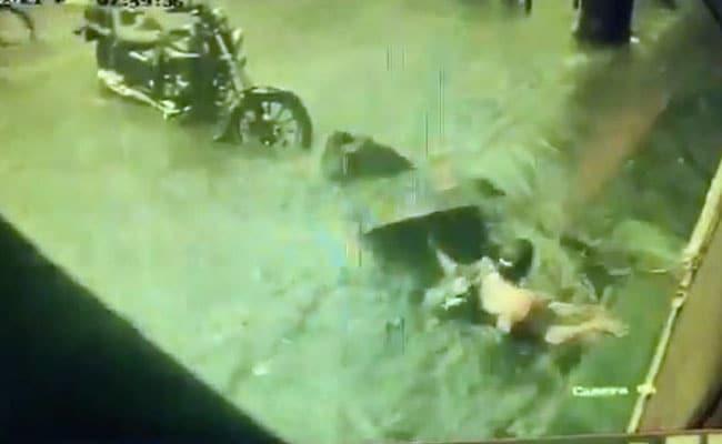 On Camera, 2 Women Fall In Manhole In Water-Logged Mumbai