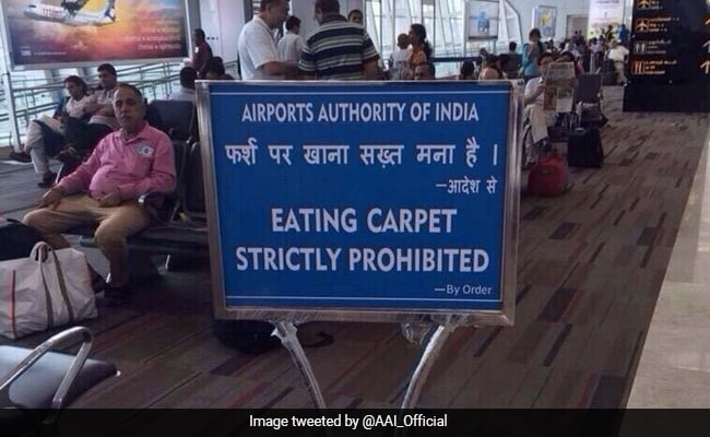 'Morphed': Aviation Minister's Clarification On 'Mistranslated' Airport Sign