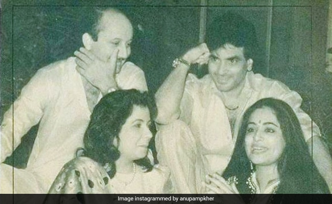 A Vintage Pic Gave Anupam Kher 'A Flashback Of Great Times' With Kirron And Jeetendra