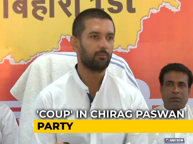 Video : After Coup, Chirag Paswan At Uncle's Doorstep, Returns After Long Wait