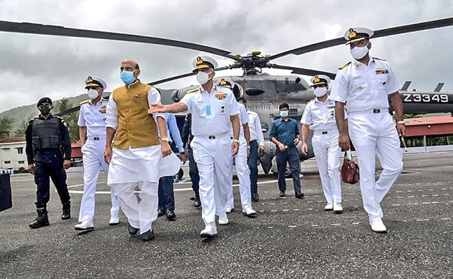 Defence Minister Rajnath Singh Reviews Project Seabird Work In Karnataka's Karwar