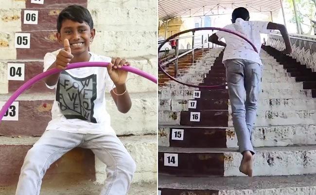 Video: Chennai Boy Sets World Record For Climbing Steps While Hula Hooping