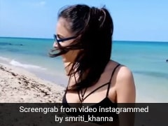 Smriti Khanna Relives Her Summer Days In A Stylish Black Bikini On The Beaches Of Miami