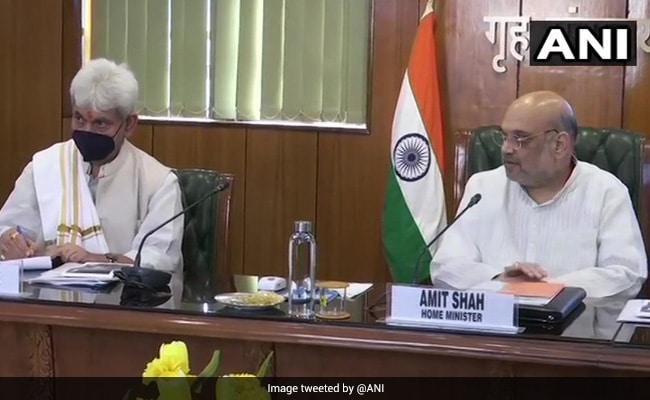 J&K Lt Governor Manoj Sinha Meets Amit Shah In Delhi
