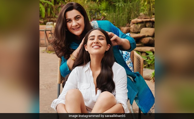 It's Champi Day For Sara Ali Khan And Mom Amrita Singh. See Pic