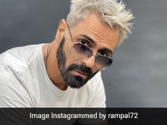 We're Doing A Double Take At Arjun Rampal's Striking Platinum Blonde Hair For <i>Dhaakad</i>