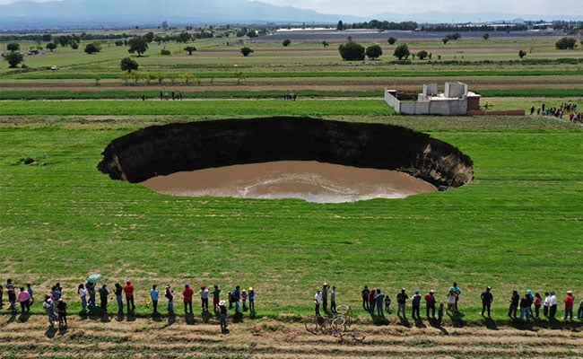 300-Foot Sinkhole Threatens To Swallow Home In Mexico