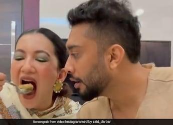Watch: Gauahar Khan Relishes <i>Pani Puri</i> As Husband Zaid Darbar Waits