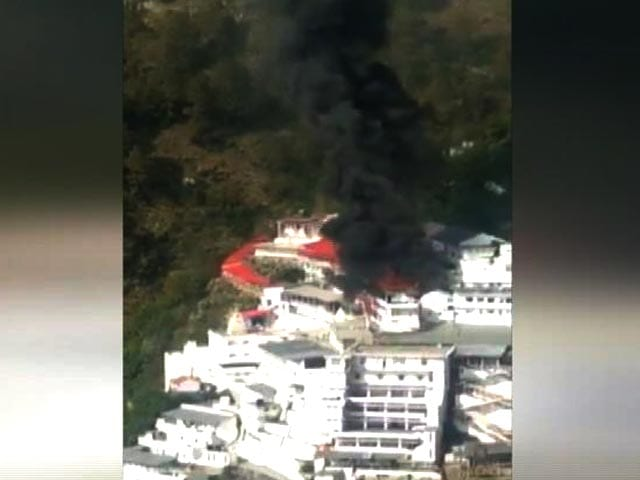 Video : Fire At Vaishno Devi Shrine Complex, Cash Counting Centre Damaged