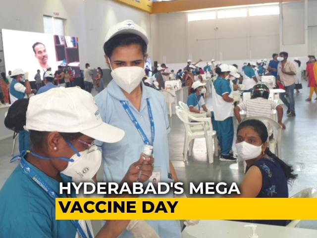 Video : 3 Hangars, 300 Counters, 40,000 People For Hyderabad's Mega Vaccine Day