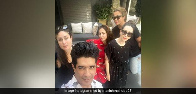 Manish Malhotra Lunch Party: Manish Malhotra's Lunch Party With Karishma, Malaika, Amrita And Kareena, See Pics