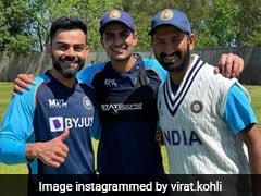 """""""The Sun Brings Out Smiles"""" For Virat Kohli, Cheteshwar Pujara And Shubman Gill"""
