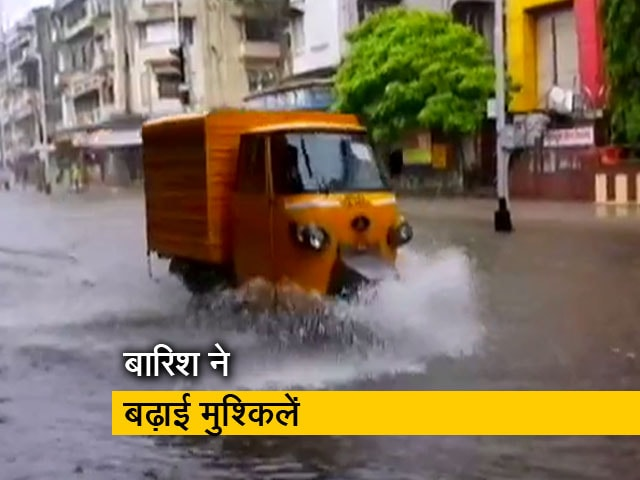 Video : मुंबई में 48 घंटे तक भारी बारिश की चेतावनी, रेड अलर्ट जारी