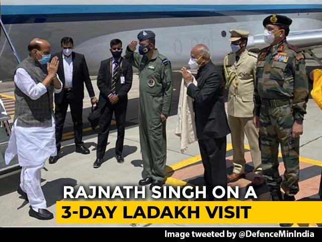 Video : Rajnath Singh Embarks On Three-Day Visit To Ladakh