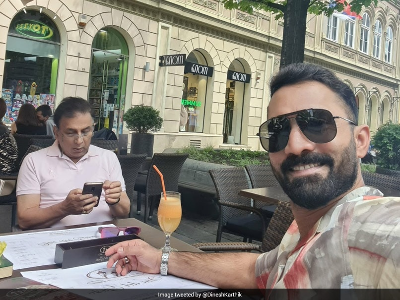 """Ahead of Commentary Stint, Dinesh Karthik Tweets Picture With Sunil Gavaskar, Says """"Lunch Date With The Legend!"""""""
