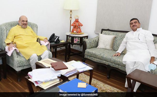 Bengal's Leader Of Opposition Suvendu Adhikari Meets Home Minister Amit Shah In Delhi
