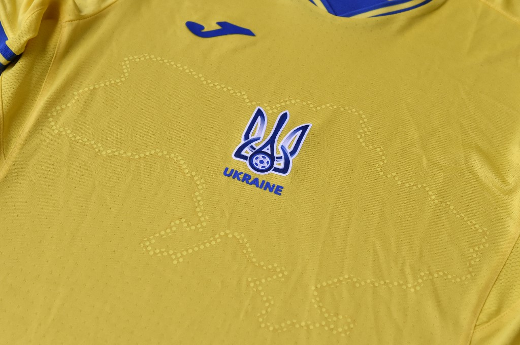 """Andriy Pavelko, the president of the Football Federation of Ukraine, said Ukrainian players will wear """"special uniforms"""" and posted photos of the jerseys in the blue-and-yellow colours of the Ukrainian flag."""