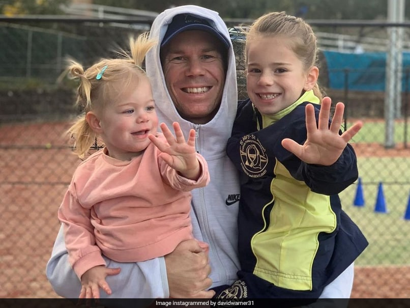 """""""My Beautiful Girls"""": David Warner shares Cricket News with his youngest and oldest daughter"""