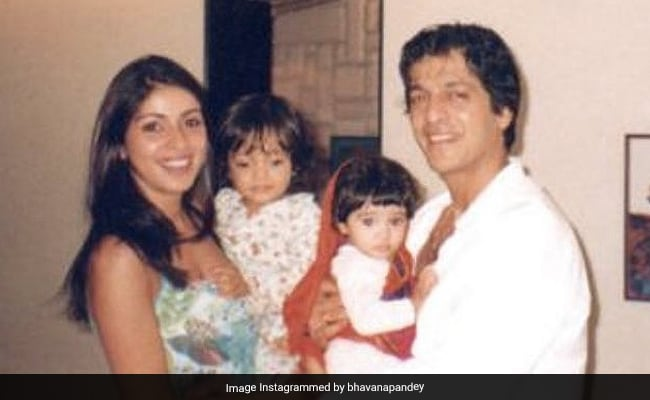 Baby Ananya With Parents Chunky And Bhavana Pandey In An Adorable Throwback Pic