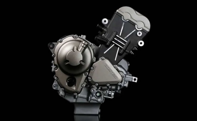 Chinese brand Zontes revealed images of a new triple-cylinder engine on social media